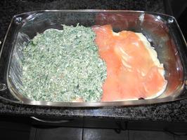Lasagne met gerookte zalm en spinazie met ricotta 5