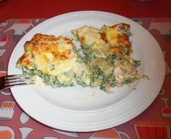 Lasagne met gerookte zalm en spinazie met ricotta 9