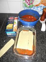 Lasagne met spinazie en scampi 5