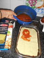 Lasagne met spinazie en scampi 8