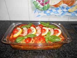 Lasagne met spinazie en scampi 10