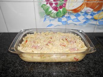 Ovenschotel met pasta witte kool en ham 2