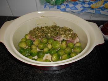 Ovenschotel van varkenshaasje en geroosterde spruiten 3