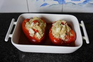 Paprika gevuld met quinoa en krab 7