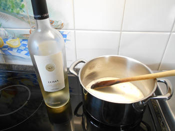 Pasta met gerookte forel en courgette in roomsaus 4