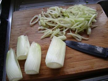 Pasta met venkel, witloof, kaas en noten 2