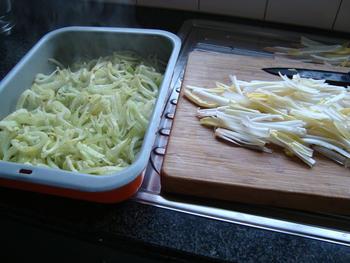 Pasta met venkel, witloof, kaas en noten 6