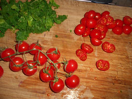 Quiche met boerenkool (kale), feta en tomaatjes 6