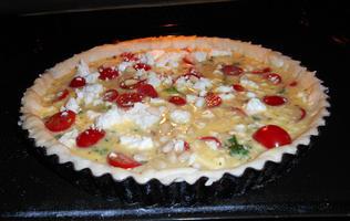 Quiche met boerenkool (kale), feta en tomaatjes 9
