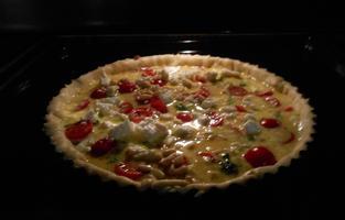 Quiche met boerenkool (kale), feta en tomaatjes 10