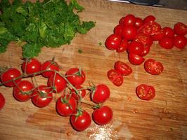 Quiche met boerenkool (kale), gerookte zalm en tomaatjes 6