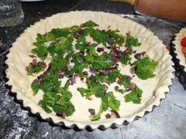 Quiche met boerenkool (kale), gerookte zalm en tomaatjes 9