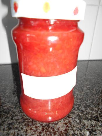 Rabarber- aardbeienconfituur 6