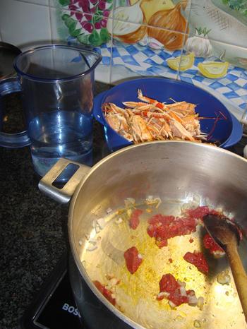 Saffraan risotto met langoustines en nantuasaus 4
