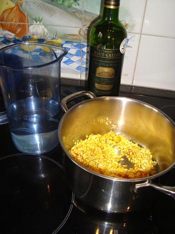 Saffraan risotto met langoustines en nantuasaus 8