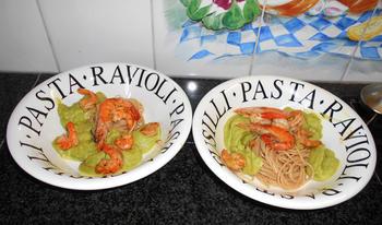Spaghetti met avocadosaus 5