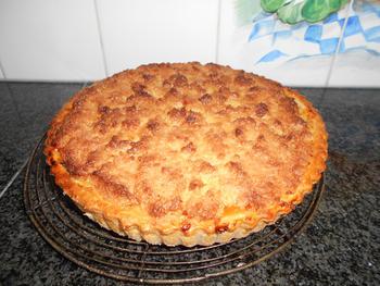 Taart met appel, abrikozenmoes en kokosnoot 6