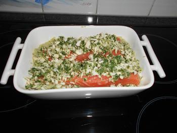 Venkelpuree met zalm en krokant korstje in de oven 5