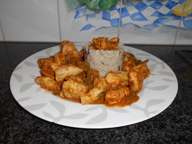 Kip met currypasta, bloemkool en prinsesboontjes 1