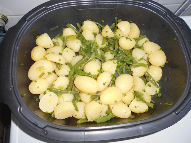 Koude aardappelsla met prinsesboontjes 1