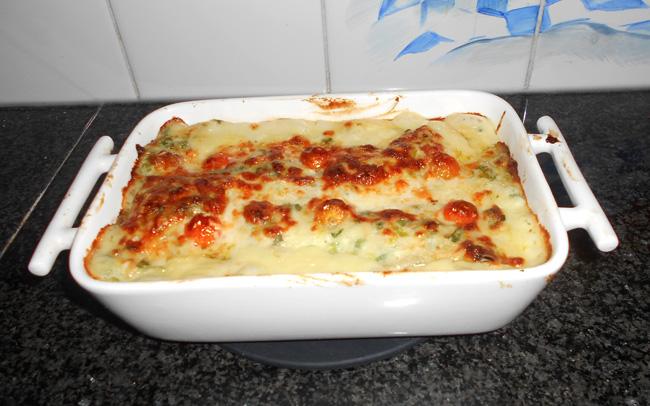 Lasagne met andijvie en kipfilet 1