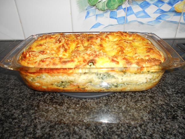 Lasagne met gerookte zalm en spinazie met ricotta 1