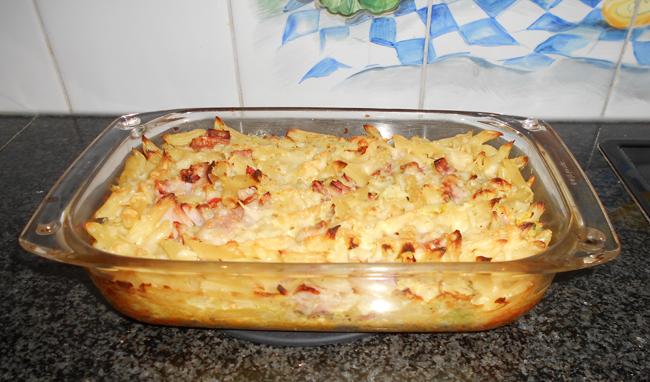 Ovenschotel met pasta witte kool en ham 1