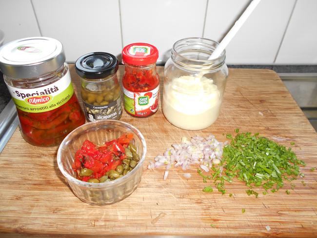 Tartaarsaus met gegrilde paprika 1