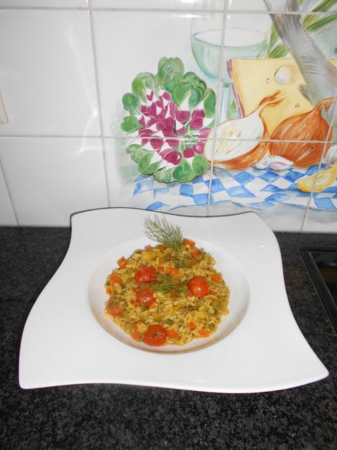 Vegetarische risotto 1
