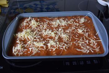 Cannelloni gevuld met gehakt en spinazie met tomatensaus 4