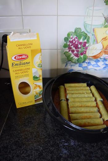 Cannelloni met ricotta en spinazie en gerookte zalm 4