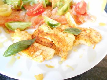 Carpaccio van vis met basilicumolie en tomatenvinaigrette 4