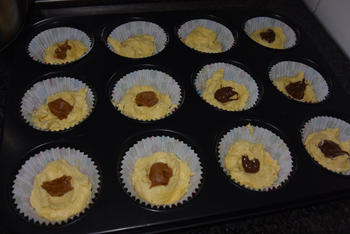 Cupcakes  met chocopasta of speculaaspasta 4