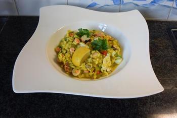 Eenvoudige risotto met zeevruchten 9