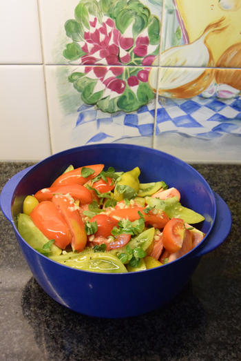 Gegrilde groenten: hier paprika en tomaten 3
