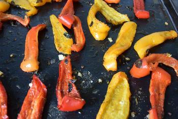 Gegrilde groenten: hier paprika en tomaten 5