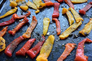 Gegrilde groenten: hier paprika en tomaten 7