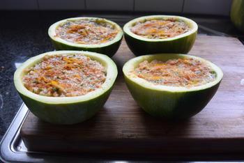 Gevulde, ronde courgettes met quinoa of rijst 7