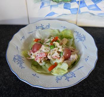 Kipcocktail met groentjes en druiven 3