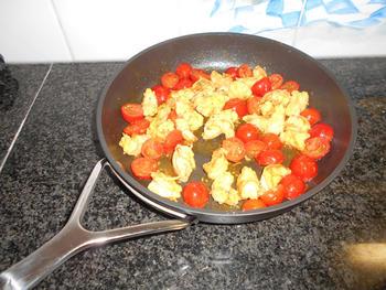 Lasagne met andijvie en grote garnalen of scampi 2