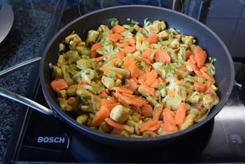 Ovenschotel: pasta met groenten en kalkoenblokjes 8