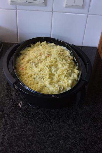 Ovenschotel: pasta met groenten en kalkoenblokjes 10