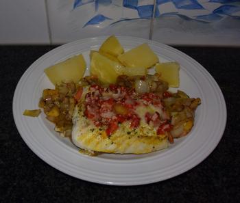 Ovenschotel van schelvisfilet met witloof en kaas 2