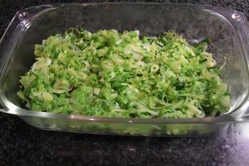 Ovenschotel van visfilets, prei en aardappelen. 3