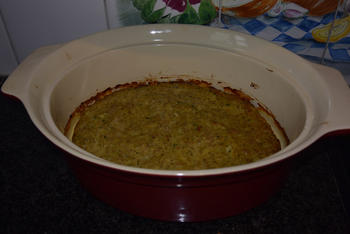 Oventaart van gehakt, spaghetti en tomatensaus 5