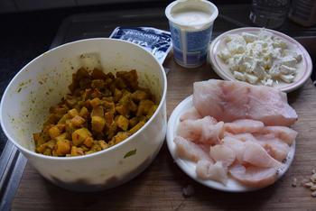 Pizza met vis, feta en pompoen 5