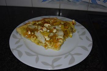 Pizza met vis, feta en pompoen 10