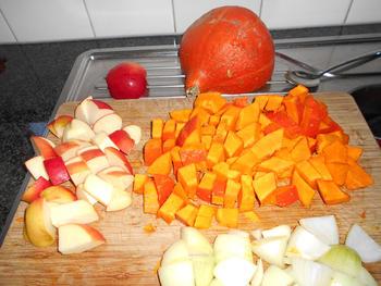 Pompoensoep met appel en kerrie 3