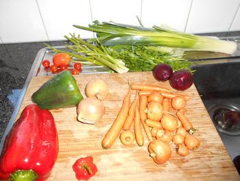 Risotto met groentjes en mosselen 4