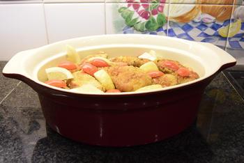 Risotto met paddenstoelen, groentjes en gepaneerde kippenreepjes 5